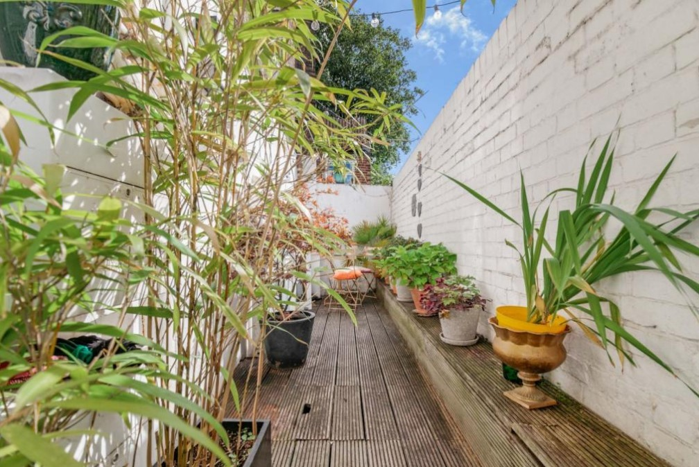 And there's even a terraced garden - a rarity in London